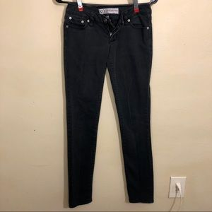 Bullhead Washed-Out Black Super Skinny Jeans 1R